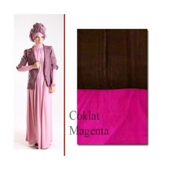 baju pesta simple elegant Pusat-Gamis-Terbaru-ELECTRA-97-by-for-TWO-Coklat-Magenta