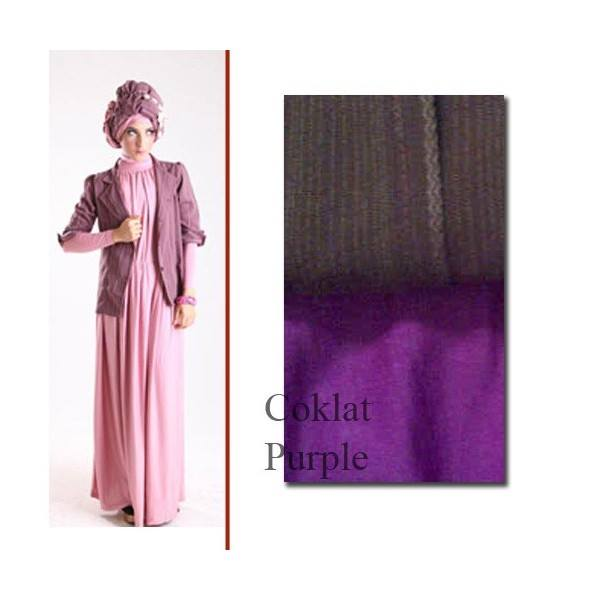 model baju pesta muslim Pusat-Gamis-Terbaru-ELECTRA-97-by-for-TWO-Coklat-Purple