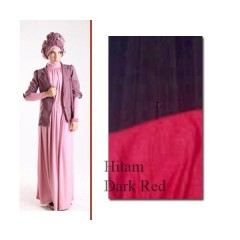 model baju pesta simple elegan Pusat-Gamis-Terbaru-ELECTRA-97-by-for-TWO-Hitam-Dark-Red