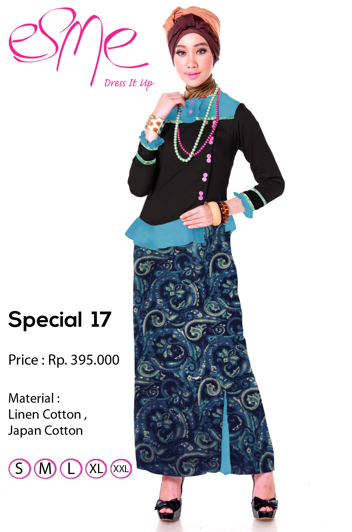 Esme Special 17 Baju Muslim Gamis Modern