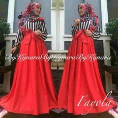 baju pesta muslim wanita Pusat-Gamis-Terbaru-Fayola-By-Kynara-Merah