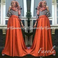 baju pesta pengantin Pusat-Gamis-Terbaru-Fayola-By-Kynara-Orange
