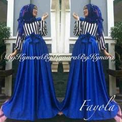 baju pesta wanita dewasa Pusat-Gamis-Terbaru-Fayola-By-Kynara-biru
