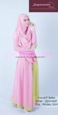 baju pesta dress Pusat-Gamis-Terbaru-Inscarft-Bella-Pink-Fusia