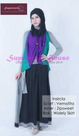 baju pesta yang elegan Pusat-Gamis-Terbaru-Insircla-Hijau-tosca-Tua-Violet