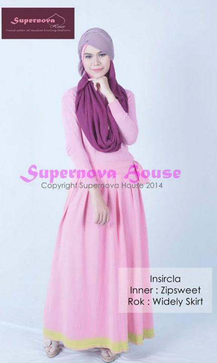 Insircla By Supernova Ungu Nila Baju Muslim Gamis Modern