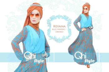 baju pesta hijab modern Pusat-Gamis-Terbaru-Keyana-By-Qhistyle-Blue-Marine-orange
