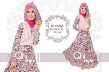 baju pesta modern Pusat-Gamis-Terbaru-Keyana-By-Qhistyle-Dusty-Pink-Salem