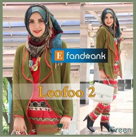 baju pesta wanita online Pusat-Gamis-Terbaru-LEOFO-By-Efandoank-Green