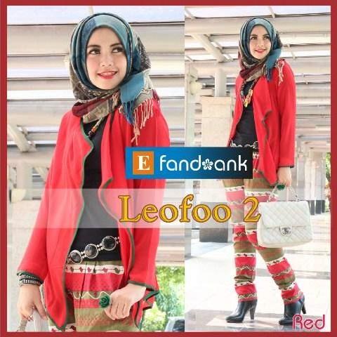 baju pesta wanita dewasa Pusat-Gamis-Terbaru-LEOFO-By-Efandoank-Red