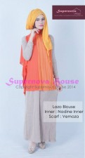model gaun pesta elegan Pusat-Gamis-Terbaru-Lazo-Blouse-Orange-kuning