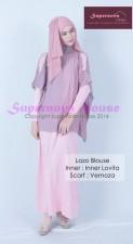 model baju pesta gamis Pusat-Gamis-Terbaru-Lazo-Blouse-Ungu-Tua-Pink-Fushia