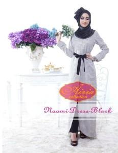 baju pesta wanita Pusat-Gamis-Terbaru-Naomi-Dress-By-Airia-Black