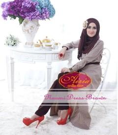 baju pesta wanita online Pusat-Gamis-Terbaru-Naomi-Dress-By-Airia-Brown