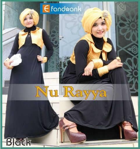 model baju pesta indonesia Pusat-Gamis-Terbaru-Nu-Rayya-By-Efandoank-Black
