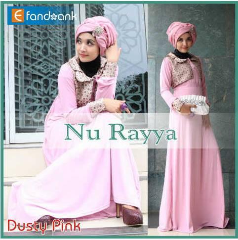 baju pesta muslim Pusat-Gamis-Terbaru-Nu-Rayya-By-Efandoank-Dusty-Pink