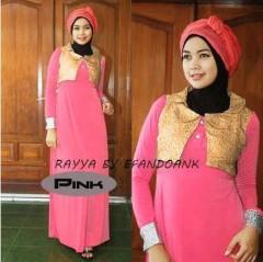 baju pesta muslim terbaru Pusat-Gamis-Terbaru-Nu-Rayya-By-Efandoank-Pink