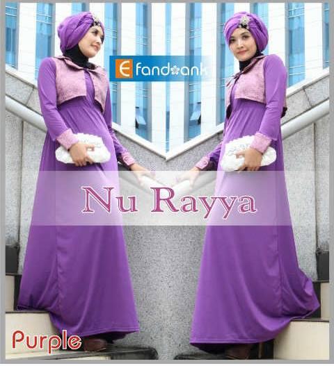model gaun pesta yang simple Pusat-Gamis-Terbaru-Nu-Rayya-By-Efandoank-purple