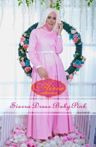 model baju pesta wanita modern Pusat-Gamis-Terbaru-Sierra-Dress-Baby-Pink