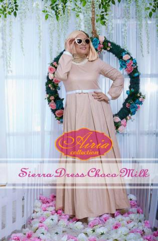 baju pesta untuk wanita muslimah Pusat-Gamis-Terbaru-Sierra-Dress-Choco-Milk