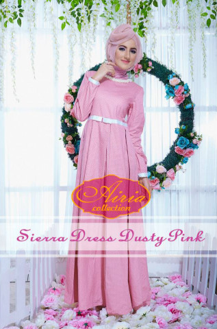 baju pesta wanita Pusat-Gamis-Terbaru-Sierra-Dress-Dusty-Pink