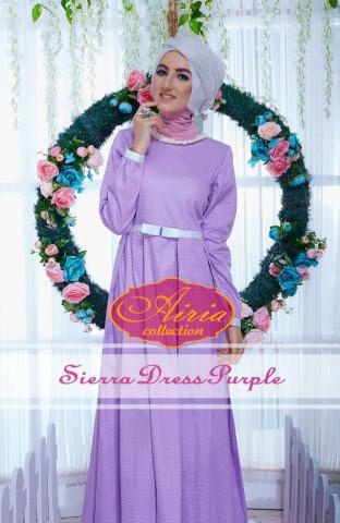 baju pesta muslim terbaru Pusat-Gamis-Terbaru-Sierra-Dress-Purple