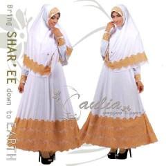 baju pesta elegance Pusat-Gamis-Terbaru-Sparkling-White-by-Aulia-Kuning