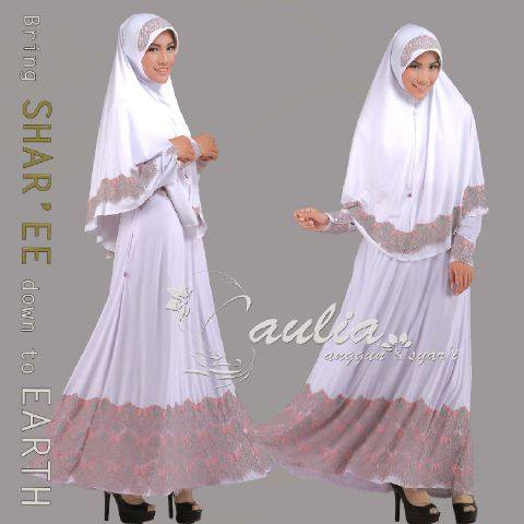 baju pesta eksklusif Pusat-Gamis-Terbaru-Sparkling-White-by-Aulia-Pink