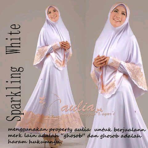 baju pesta untuk hijabers Pusat-Gamis-Terbaru-Sparkling-White-by-Aulia-Salem