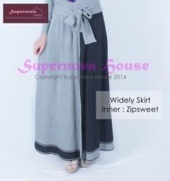 model baju pesta wanita berjilbab Pusat-Gamis-Terbaru-Widely Skirt-Hitam-Abu