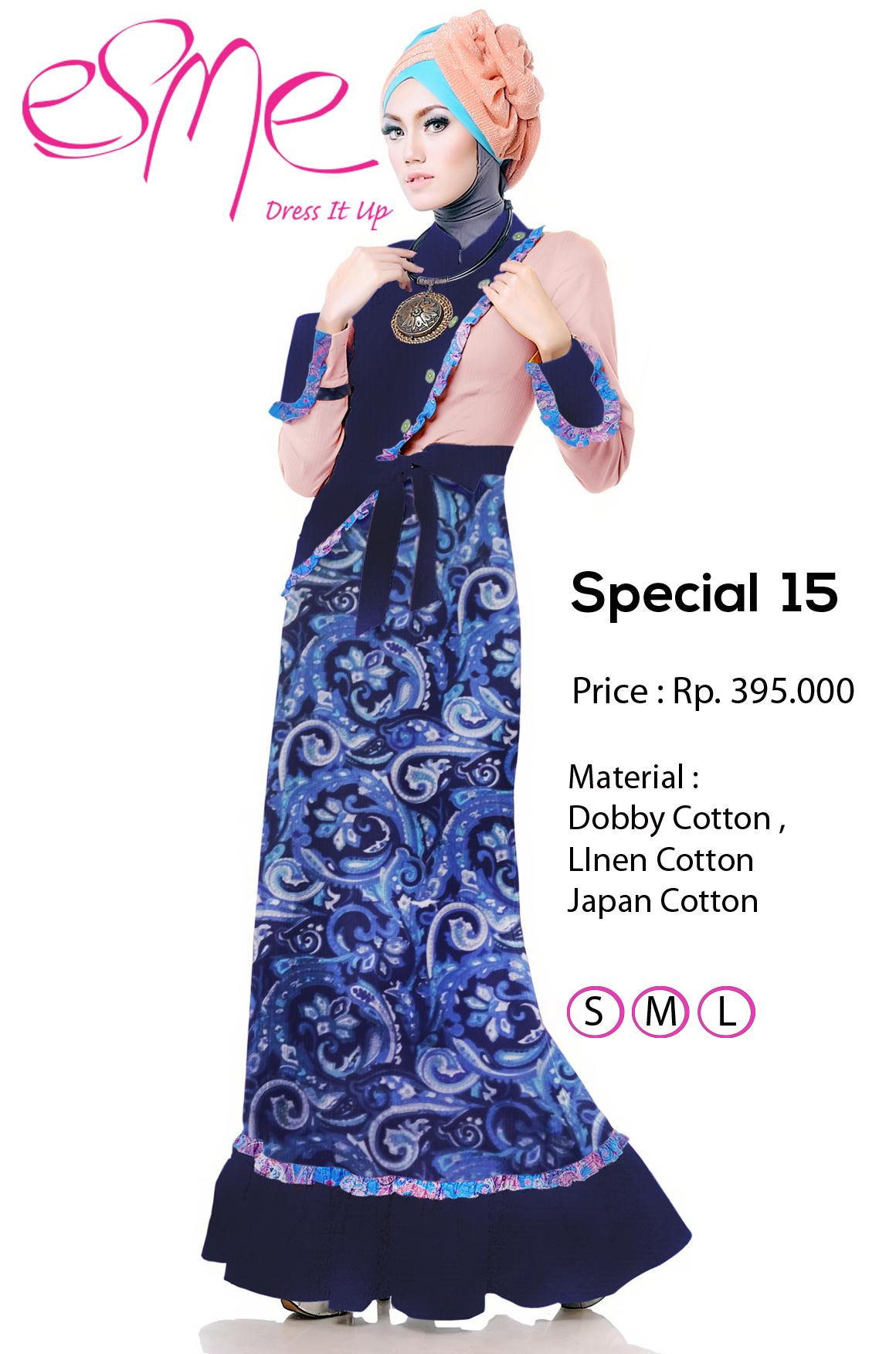 Esme Special 15 Baju Muslim Gamis Modern