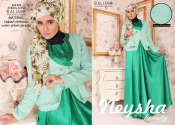 model baju pesta gamis Pusat-Gamis-terbaru-Balimo-Neysha-Beauty-Green