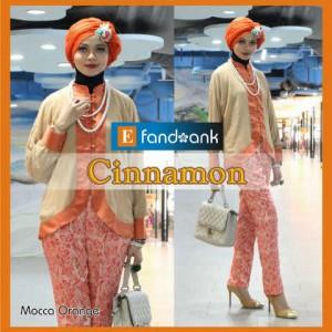 baju pesta exclusive Pusat-Gamis-terbaru-CINNAMON-By-Efandoank-Mocca-Orange