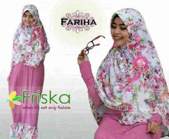 baju pesta hijabers Pusat-Gamis-terbaru-Fariha-By-Frishka-Dusty-Pink