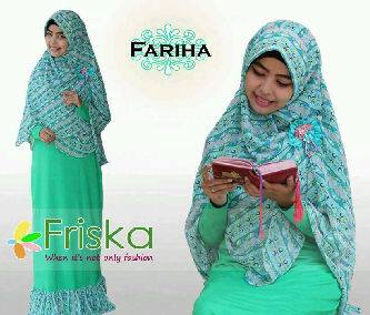 Fariha By Frishka Hijau Baju Muslim Gamis Modern