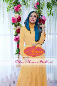 baju pesta dress Pusat-Gamis-terbaru-Illona-Dress-Yellow
