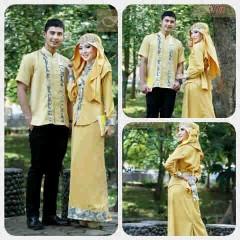 baju pesta formal Pusat-Gamis-terbaru-Ismail-&-Ghumaisha-Gold