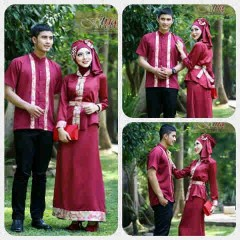 baju pesta pernikahan Pusat-Gamis-terbaru-Ismail-&-Ghumaisha-Maroon
