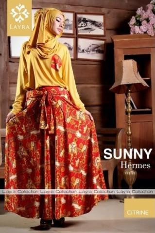 model gaun pesta yang cantik Pusat-Gamis-terbaru-Layra-Sunny-Vol-2-Citrine
