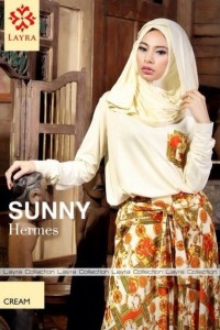 model baju pesta Pusat-Gamis-terbaru-Layra-Sunny-Vol-2-Cream