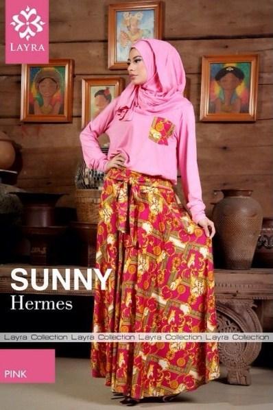baju pesta muslim 2014 Pusat-Gamis-terbaru-Layra-Sunny-Vol-2-Pink