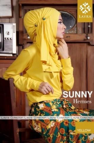 baju pesta pengantin Pusat-Gamis-terbaru-Layra-Sunny-Vol-2-Yellow