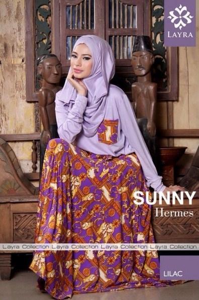 baju pesta modern Pusat-Gamis-terbaru-Layra-Sunny-Vol-2-lilac