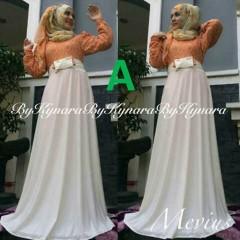 baju pesta anak perempuan Pusat-Gamis-terbaru-Mevius-Dress-By-Kynara-Kode-A