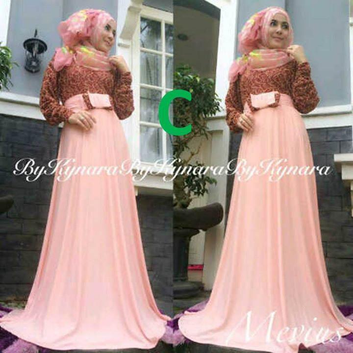 Mevius Dress C Baju Muslim Gamis Modern