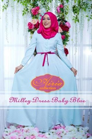 baju pesta wanita dewasa Pusat-Gamis-terbaru-Milley-Dress-By-Airia-Baby-Blue