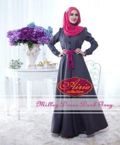 baju pesta anak perempuan Pusat-Gamis-terbaru-Milley-Dress-By-Airia-Dark-Grey