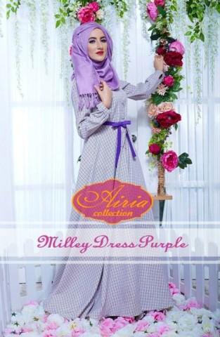 baju pesta eksklusif Pusat-Gamis-terbaru-Milley-Dress-By-Airia-Purple