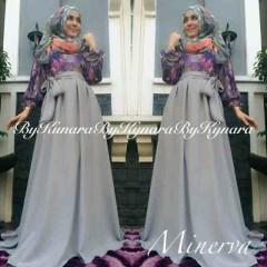baju pesta modern Pusat-Gamis-terbaru-Minerva-By-Kynara-Abu-Abu