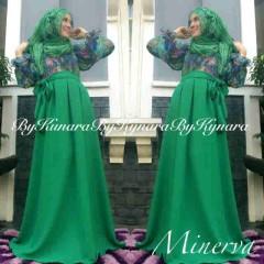 baju pesta muslim eksklusif Pusat-Gamis-terbaru-Minerva-By-Kynara-Hijau